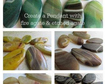 CHOICE of Agate Bead, Agate Pendant, Large Beads, Large Agate Bead, Agate, Fire Agate, Green Beads, Beads, Large Beads