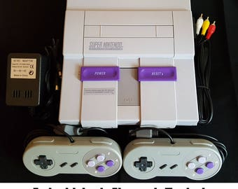Super Nintendo SNES System Console With 2 Controllers - Ships Fast