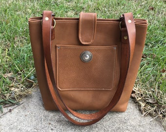 Convertible Leather Tote/Purse Bag