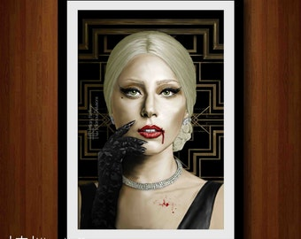 The Countess Digital Painting Print, American Horror Story: Hotel, Season 5