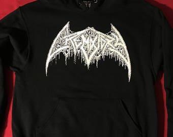 Crematory ( Sweden ) Hooded Logo Sweatshirt sick old school Death Metal hoodie for fans of Swedish, Carcass, Autopsy, Demilich etc