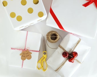 30 Feet x 24 inches Solid White Matte Wrapping Paper Roll, All Occasion Wrapping Paper, Table Covering