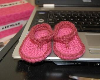 Crocheted Baby Flip Flops Pattern