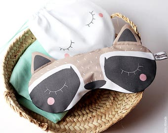 Sleeping mask * raccoon *.