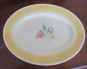 "Vintage Susie Cooper 14"" Oval Serving Platter ""Nosegay"" Pattern c.1930's"