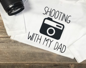 Shooting With My Dad, Shooting With My Mom, Photographer Onesie, Onesie Bodysuit, Photographer, Camera Photography, Photo
