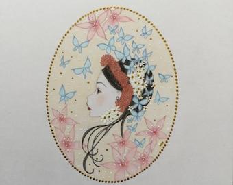 Original art frida Kahlo lowbrow fantasy art
