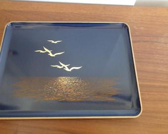 Vintage Otagiri Seagull Lacquerware, Home Decor, Vintage Lacquerware Tray