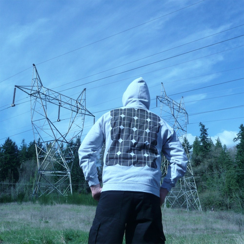 Solar Power Hoodie Solar Panel Print Geek Alternative