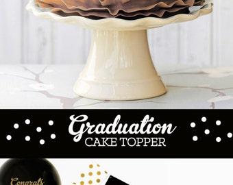2016 Cake Topper Graduation Cake Topper Class of 2016 Graduation Party Ideas Graduation Party Decor (EB3055) set of 6 custom stickers