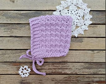 Bell Pixie Bonnet in Light Pink