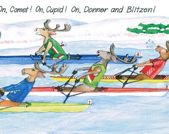 "Box of ""Reindeer Games"" Christmas cards"