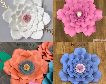Hardcopy Flower Templates