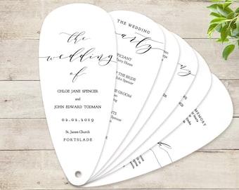 "Fan Wedding Program Petal Fan program printable instant download template ""Wedding"" Edit in WORD or PAGES"