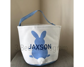 Monogrammed Bunny Tail Basket