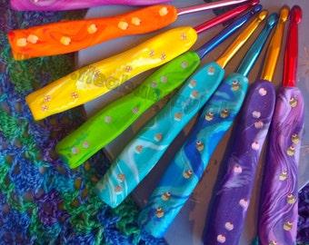 Beautiful, ergonomic crochet hooks