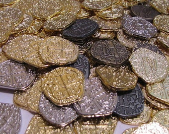 A Dozen Atocha Pirate Treasure Gold and Silver Coins Pirate Booty loot You can CHOOSE the coins