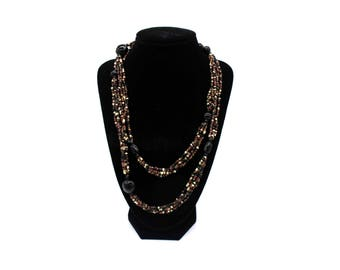 40 inch bead necklace no clasp