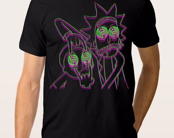 Rick and Morty 3D Psychedelic T-shirt, All Sizes