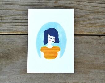 Aqua Print - 5X7