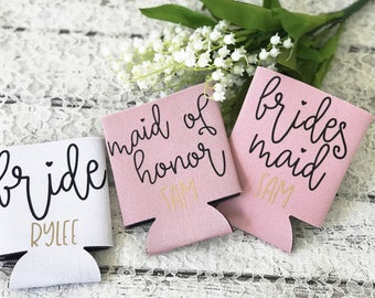 Bridesmaid Can Cooler - Maid Of Honor Gift - Personalized Bridal Party Gifts - Bridesmaid Proposal - Will You Be My Bridesmaid Gift - Bridal