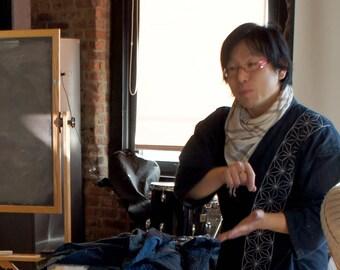 Traditional Sashioko Workshop (Basic & Core)   Offered by Sashiko Artist, Atsushi Futatsuya