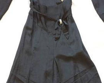 1920s black dropwaist dress to die for!