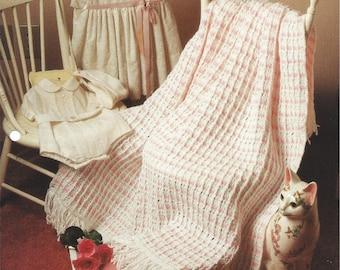Crochet Baby Afghan Pattern, Nursery Decor Bedding, Crib Blanket, Baby Wrap Blanket, Baby Love - The Needlecraft Shop - Peppermint Drifts