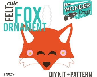 DIY Digital Felt Fox Instructions-Make an Ornament or a Fascinator