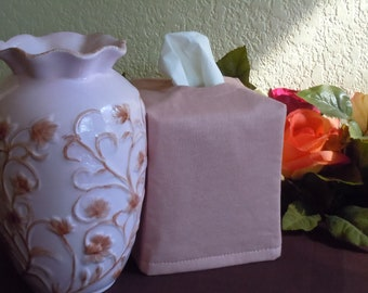 Ready To Ship - Essex  Rose Linen  -  Fabric Tissue Box Cover