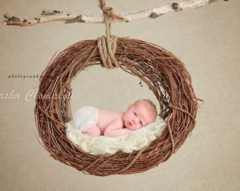 digital backdrop newborn girl or boy off white