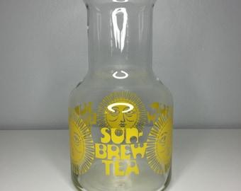 vintage glass sun brew tea carafe