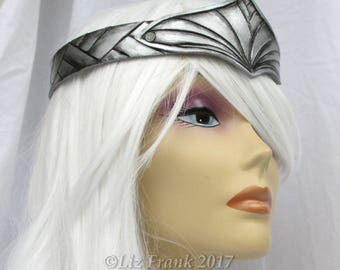 Valkyrie Crown, Circlet, Viking, Leather Crown, Thor, Silver, Gold, Role Play, Cosplay, Halloween Costume, Theater Prop, Mardi Gras Costume