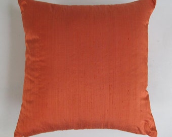 dark orange art silk pillow cover 16inch throw pillow on discount price . 20% discount