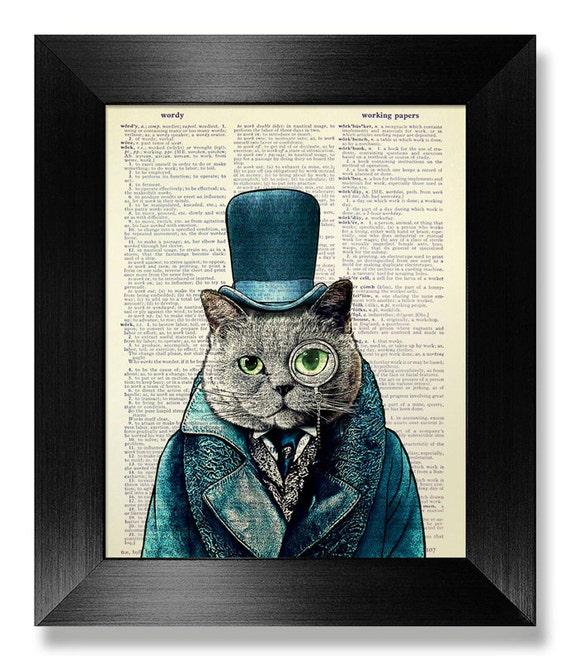 Men S Office Decor: GEEKERY Cat Lover GIFT Man Office Decor STEAMPUNK Top Hat Cat