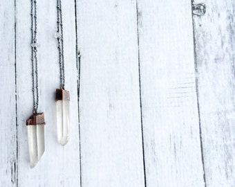 Large crystal sterling silver necklace | Large crystal necklace | Raw mineral necklace | Rough quartz crystal pendant | Raw gemstone jewelry