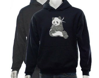Men's Hooded Sweatshirt - Created using a list of 37 popular animals on the endangered species list