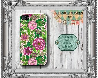 Garden Floral iPhone Case, Spring Floral iPhone Case, Flower iPhone Case, iPhone 8, 8 Plus, iPhone 7, 7 Plus, iPhone 6, 6s, 6 Plus, 5s, 5c,