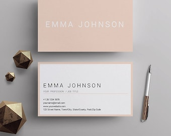 Business cards etsy professional business card template printable business cards premade business card design matching resume reheart
