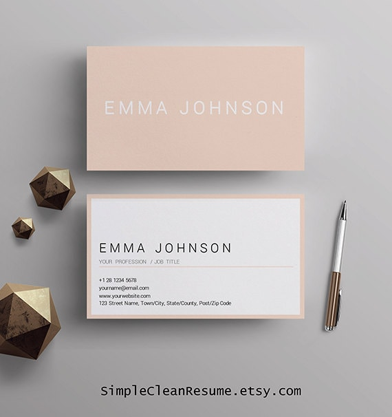 Professional business card template printable business cards professional business card template printable business cards premade business card design matching resume template mac and pc ms word fbccfo Image collections