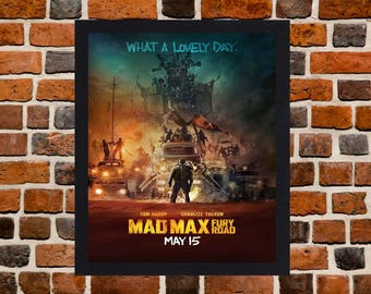 Framed Mad Max Fury Road Tom Hardy Movie / Film Poster A3 Size Mounted In Black Or White Frame