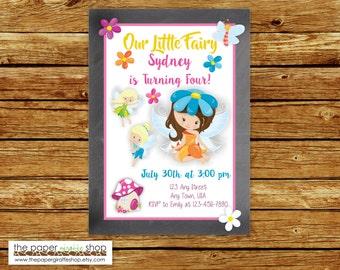 Fairy Chalkboard Invitation | Fairy Birthday Invitation | Fairy Party Invite | Fairy Birthday Party | Little Fairy Party
