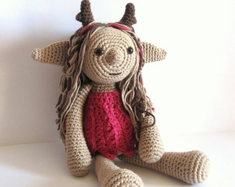 Fairy doll.Crochet doll. Handmade doll. Fairy tale doll. Fairy amigurumi, stuffed toy, softy fairy doll, plush fairy doll, children gifts