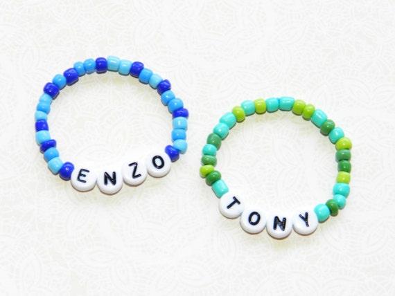 Baby identical twin boys personalized id bracelet set newborn