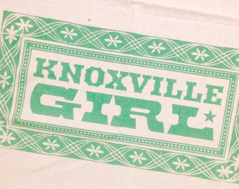 COTTON TEA TOWEL Knoxville Girl, Southern Kitchen, Tennessee Kitchen, Knoxville kitchen, kitchen dishtowel, hostess gift, country music gift
