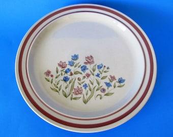 Four Newcor Stoneware Good Earth Dinner Plates, Vintage Japan
