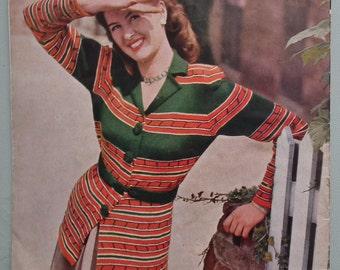 Vintage 40s Stitchcraft November 1948 Knitting Sewing Magazine UK original 1940s knitting patterns women's lingerie undies cardigans jackets