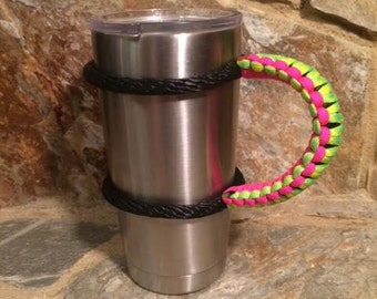 Fathers Day Graduation Yeti handle Paracord 20 ounce cup Rambler