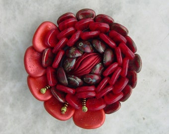 Hand Made Floral cabochon