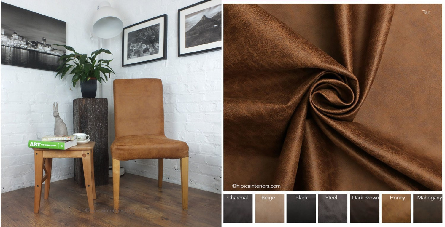 Ikea Henriksdal Dining Chair Cover In Distressed Leather Look Fabric